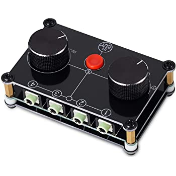 4 Port Stereo Manual Selector Audio Sharing Switch Box 3.5mm Audio Switch Box