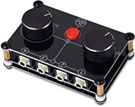 Nobsound Little Bear MC104 4(1)-in-1(4)-Out 4 Port 3.5mm Stereo Audio Switcher Passive Speaker Headphone Manual Selector Splitter Box Audio Sharing (Black)