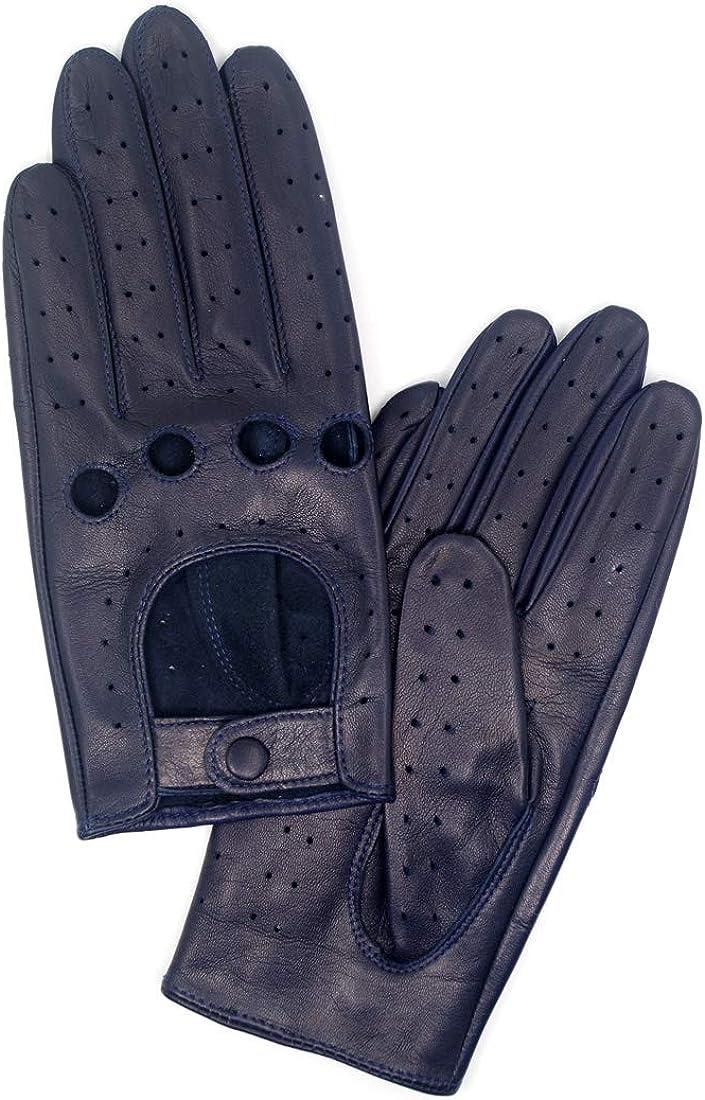 Harssidanzar Damen Autohandschuhe Lederhandschuhe Unliniert