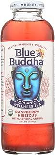 Blue Buddha Organic Wellness Tea - Raspberry Hibiscus with Ashwagandha - Case of 12-14 oz. - Pack of 12