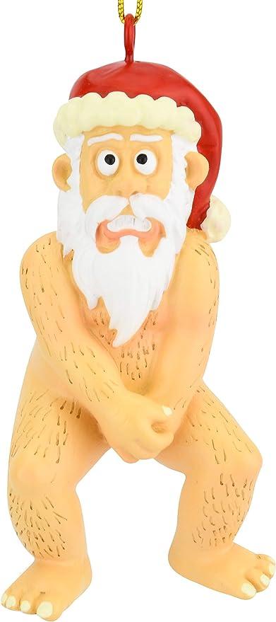 Naked christmas pics Amazon Com Tree Buddees Funny Naked Santa Claus Inappropriate Christmas Ornaments Home Kitchen