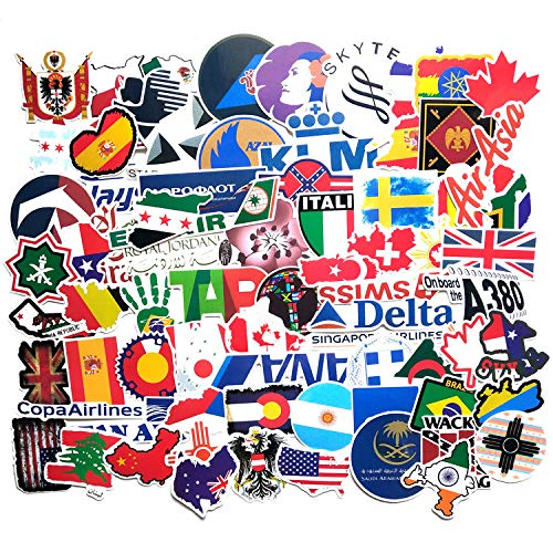ZXXC Air Travel Set Personalized Graffiti Stickers Suitcase Suitcase Waterproof Car Stickers 100 Sheets