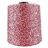 AUBERSIT 1000g / Ball 7000M Hilo mercerizado de seda de hielo de verano, hilo de lentejuelas, tejido a mano DIY, manta de lana para tejer muñeca de trapo, 1