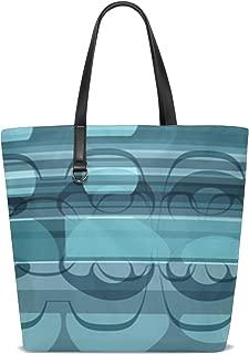 Dnoving Women Banner Header Art Deco Design Handle Satchel Handbags Shoulder Bag Tote Purse Messenger Bags