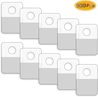 Neworkg 300 Pack Round Hole Adhesive Hang Tabs - 1.57