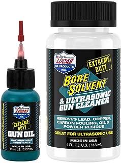 CCS Lucas Oil Extreme Duty 1oz Needle Oiler & 4oz Bore Solvent Cleaner