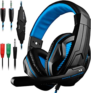 Gaming HeadsetDLAND 3.5mm Wired Bass Stereo Noise Isolation Gaming Headphones with Mic for Laptop Computer Cellphone PS4 a...