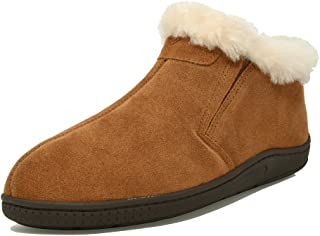 DREAM PAIRS Men's Suede Leather Sheepskin Fur Lining Loafers Boots