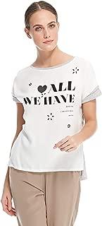 Stradivarius T-Shirt for Women - white/Grey