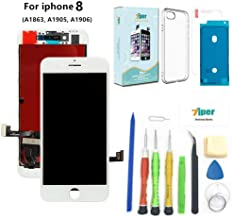 Screen Replacement for iPhone 8 (4.7 inch) - 3D Touch LCD Complete Repair -LCD Touch Digitizer Display Glass - Free Cover,Waterproof Adhesive,Tempered Glass,Tools,Instruction (White)