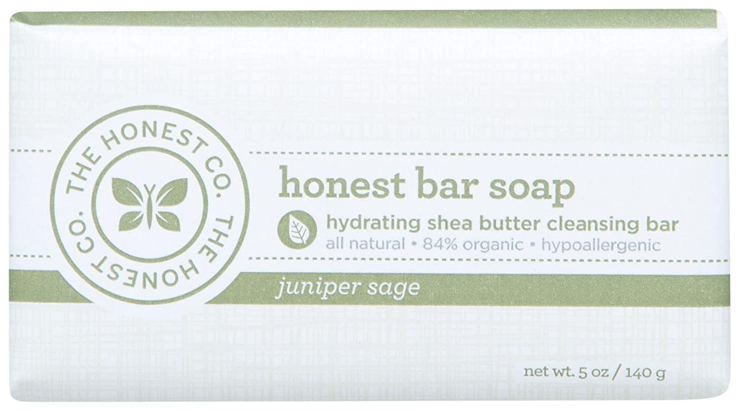 統合するくるくる洗練Honest Bar Soap - Juniper Sage - 5 oz by The Honest Company