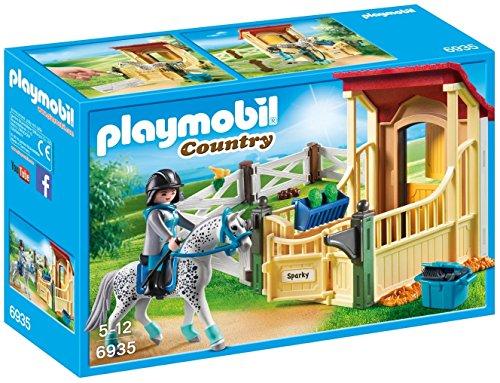 Playmobil- Boîte avec cavalière et Cheval Appaloosa, 6935