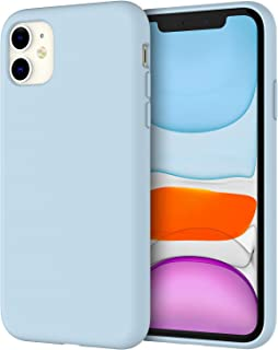 JETech Silicone Case for Apple iPhone 11 (2019) 6.1-Inch, Silky-Soft Touch Full-Body Protective Case, Shockproof Cover with Microfiber Lining (Blue)
