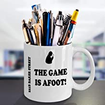 Sherlockian Mug 221B Baker Street Sherlock Holmes Gift The Game is Afoot Fans Gifts Gift for Police Detective PI Private Investigator Doyle
