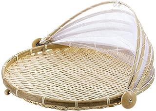 Warmwin 1 Pc tissé à la Main Panier Anti-Insectes Panier Anti-poussière Pique-Nique à la Main Fruits et légumes Couverture...