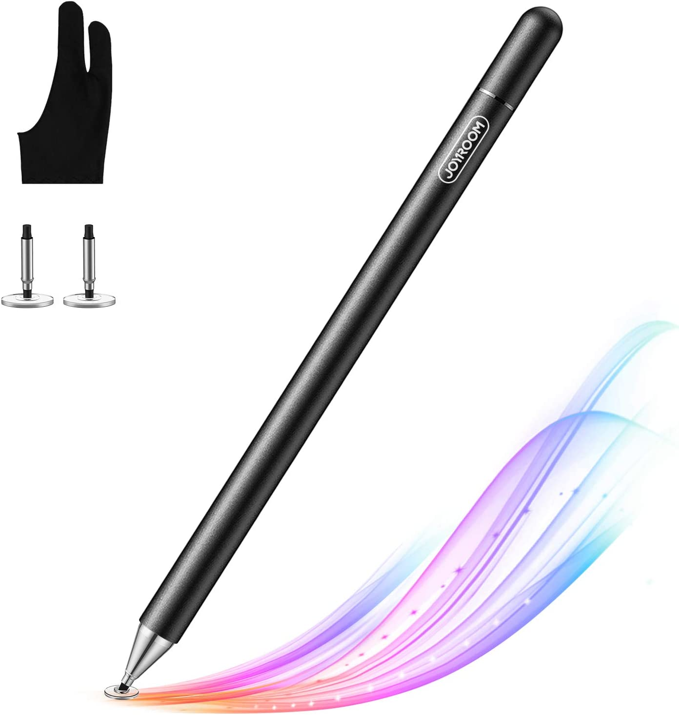 Stylus pens for ipad Pencil, with Palm Rejection Glove(Palm Rejection), 2021 Updated Capacitive Touch Screen Pens for Kid Student Drawing, Writing, for/Phone/iPad/Android/Surface (Black)
