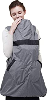 Bebamour Warm Baby Carrier Coat Hoodie All Season Universal Carrier Cover for Baby Carrier (Grey)