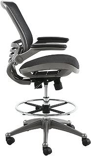 Harwick Evolve All Mesh Heavy Duty Drafting Chair, Gunmetal Finish