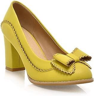 BalaMasa Womens Comfort Solid Round-Toe Urethane Pumps Shoes APL00255