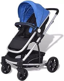 Festnight 2-i-1 Buggy barnvagn hopfällbar barnsportbil kombibarnvagn för barn upp till 15 kg 97 x 49 x 101 cm