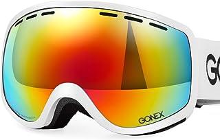 22a20e74ac Gonex Gafas de Esquí Protección UV Anti-Niebla con Lente Esférica Doble  Protección UV400 para