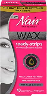 Nair Wax Ready Strips For Size 40ct Nair Wax Ready Strips For Face 40ct