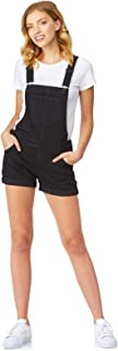 Women's Juniors Denim Shortalls