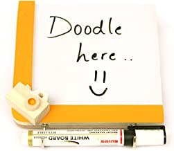 IVEI Wooden Fridge Magnets with a whiteboard and Hooks - to do Magnets for Fridge - Writing Boards Small (Yellow Camera)