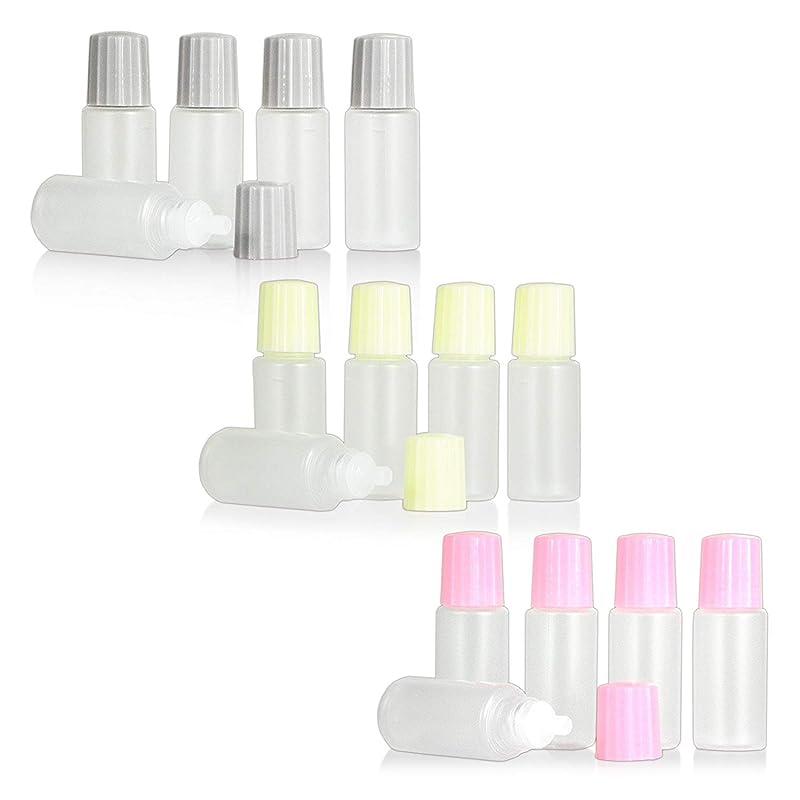 スパイインストラクターベーススポイトタイプ点眼容器 10ml 3色キャップ?各5本セット ピンク?クリーム色?グレー