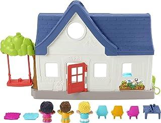 Fisher-Price Little People Friends Together Play House, juego electrónico con contenido de aprendizaje Smart Stages para niños pequeños y niños preescolares