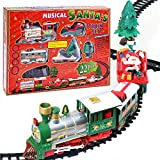 KoudHug Christmas Train Set - Toy Train Sets - Christmas Train Sets for Under The Tree with Music, for 3 4 5 6 7 8 Year Old Kids Boys and Girls (22 Pcs)