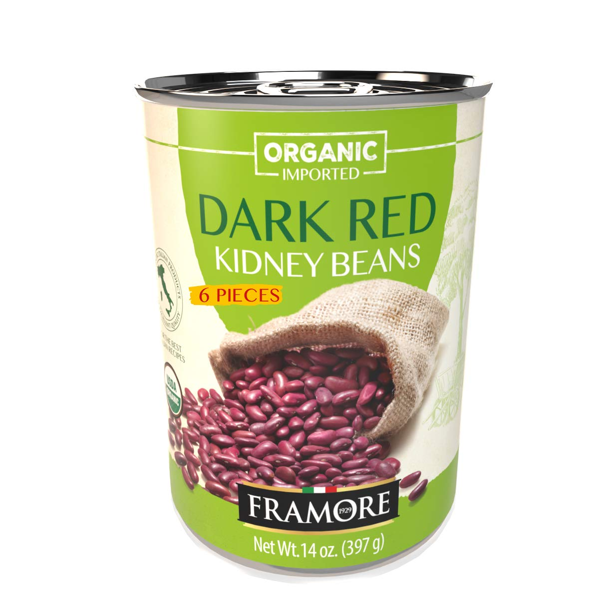 FRAMORE Organic Dark Limited time for free shipping Red Kidney canned Max 66% OFF fourteen ounce Beans bulk
