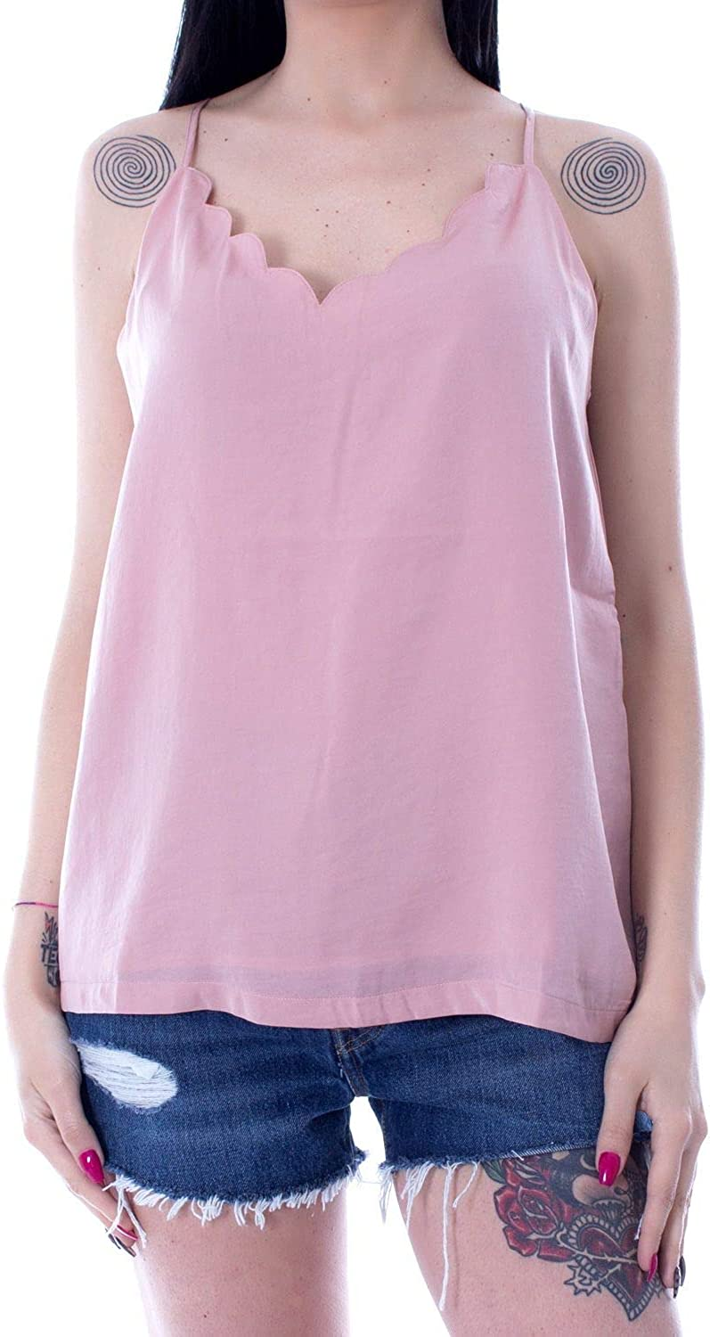 Only Women's 15176550PINK Pink Polyester Tank Top