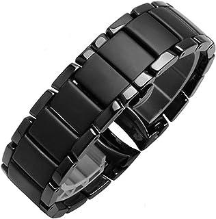 LBWNB Bracelet de montre AR1451 AR1452 en acier et céramique mélangée 22 mm 24 mm pour montres AR Samsung S3 S4 Extrémité ...