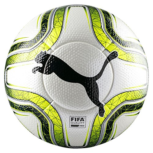 PUMA Final 1 Statement FIFA Quality PRO, Pallone da Calcio Unisex-Adulto, White/Lemon Tonic/Black, 5