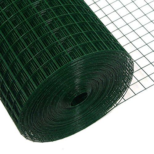 Preisvergleich Produktbild Volierendraht Grün 25x25mm Maschendraht 4-Eck Drahtgitter (100cm x10m,  1, 20mm)