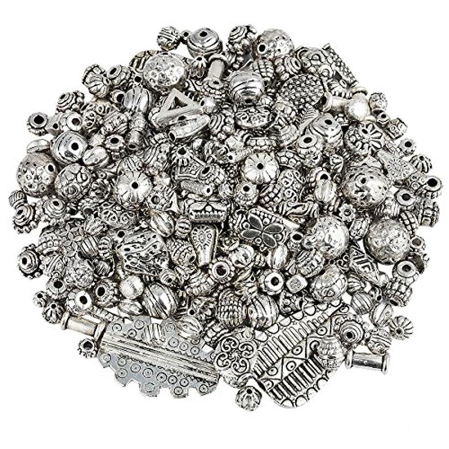 SUNYIK Vintage Tibetan Silver Tone Bulk Sale Spacer Charms Bead Supplies for Jewelry Making 1-3mm Hole,0.5lb(230 Grams)