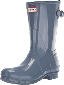 46fbf42a Original Back Adjustable Short Gloss Rain Boots. Hunter. Original Back  Adjustable Short Gloss Rain Boots