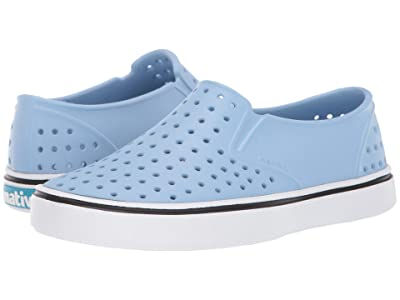 Native Kids Shoes Miles Slip-On (Little Kid/Big Kid) (Washed Blue/Shell White) Kids Shoes