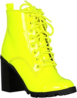 63d27cde136 Amazon.com: Yellow - Ankle & Bootie / Boots: Clothing, Shoes & Jewelry
