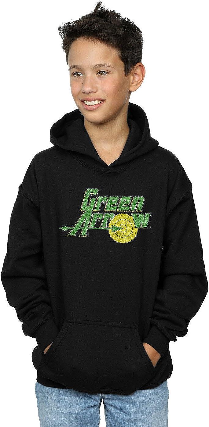 DC Comics Boys Green Arrow Crackle Logo Hoodie