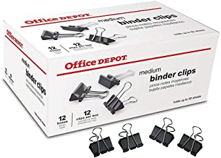 Office Depot Binder Clips By The Gross, Medium, 1 1/4in., Box Of 12 Clips, Pack Of 12 Boxes