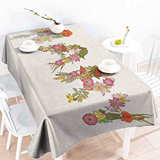 EwaskyOnline Elastic Tablecloth Rectangular,Mary Blossoming Flowers with Daisies Roses and Poppies Traditional Well Known Girl Name,Modern Minimalist,W52x70L, Multicolor