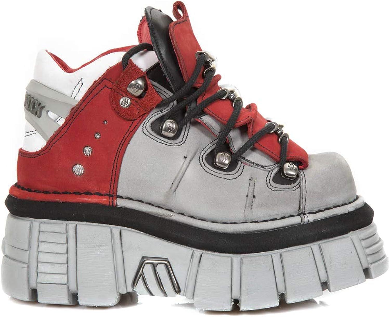 ny Rock NR M.106B S1 röd, svart stövlar, Metallic, Unisex Unisex Unisex  billigt i hög kvalitet