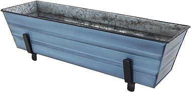 Achla Designs C08NB-K4 Small Blue Flower 2 x 4 Railings Window Box and Brackets