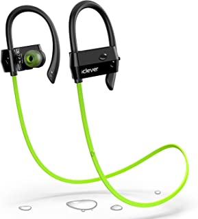 iClever Bluetooth Headphones Sweatproof, Wireless Headsets Bluetooth Earbuds for Running, Exercise, Workout, Gym, Green