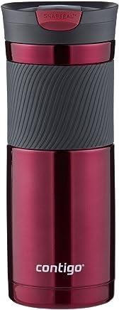 Contigo SnapSeal Byron Vaso de viaje de acero inoxidable aislado al vacío, 591 ml, Color Vivacious