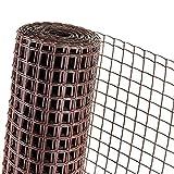 HaGa® - Recinzione da giardino, 0,5 m, altezza maglie 40 mm, colore: Marrone