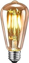 Edison Vintage gloeilamp, Edison LED-lamp warm wit E27 4W retro gloeilamp vintage antieke gloeilamp ideaal voor nostalgie ...