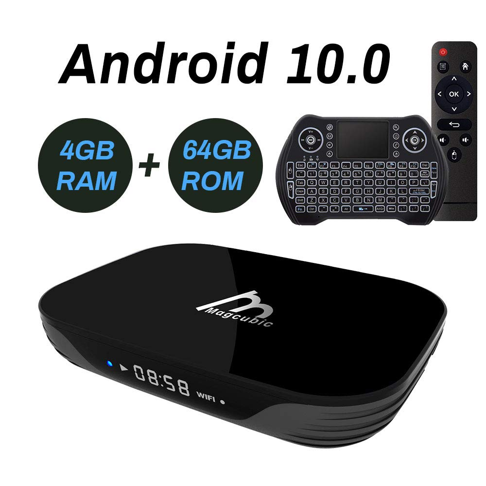 Android TV Box 10, 4GB 64GB Smart TV Box Compatible con 4K 3D, RK3318 Dual-WiFi 2.4g / 5g con Mini Teclado HDMI USB3.0: Amazon.es: Electrónica